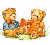 Valentine day. Teddy bear.background for congratulation festive — Stock Photo