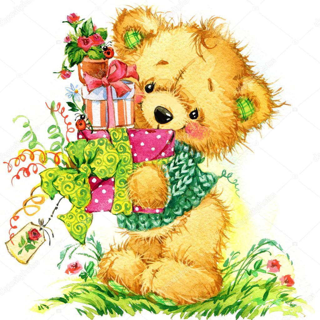 Красивые открытки с медведями
