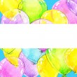 Birthday background with flying colorful balloons and confetti with place for text. watercolor — Stock Photo #61239319