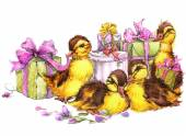 Cute duck watercolor — Stock Photo