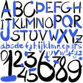 Alphabet watercolor — Stock Photo