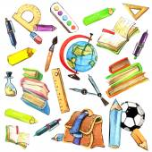 Kids school background — Stock Photo