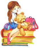School Girl — Stock Photo