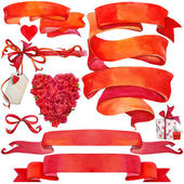 Valentine day background and elements for decoration — Φωτογραφία Αρχείου