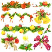 New year and Christmas decoration elements for design. — Stock Photo