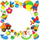 Toy background for children. — Stock Photo
