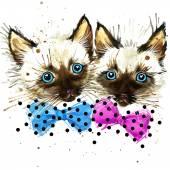 Funny lkitten watercolor — Stock Photo