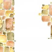 Stone wall Gold palette watercolor background — Stock Photo