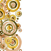 Gold palette watercolor circles background. — Stock Photo