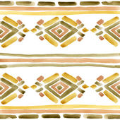 Ethnic ornament. watercolor background — Stock Photo