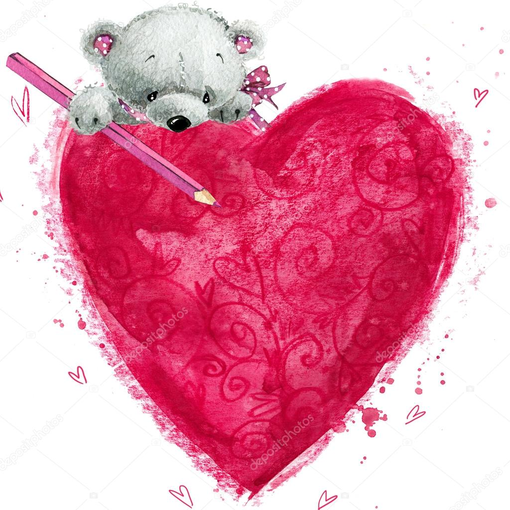 Картинка открытка с сердечком 529