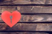 Red heart wood — Stock Photo