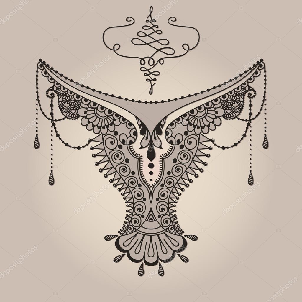 mehndy blumen tattoo vorlage stockvektor xarlyxa 108509640. Black Bedroom Furniture Sets. Home Design Ideas