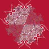 Circular Floral Ornament — Stock Vector
