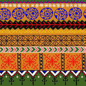 African ornamental pattern — Stock Vector