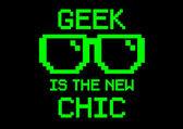 Geek is chic screen — Stock Vector
