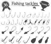 Fishing Tackles — Stock Vector