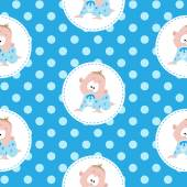 Cute little baby pattern — Stock Vector