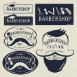 Постер, плакат: Vector logos Set of vintage barbershop logo and icons