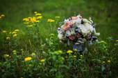 Bridal bouquet, groom bouquet, flowers for wedding wedding Accessories — Stock Photo