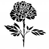 Graphic illustration of black rose — Vector de stock