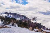 Nature of highlands lago-naki — Stock Photo