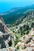 Уклон в горах — Стоковое фото