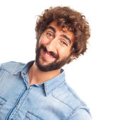 Happy young crazy man — Stock Photo
