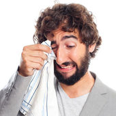 Young crazy man crying — Stock Photo