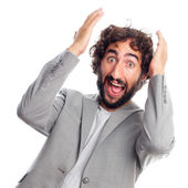 Young crazy man shouting — Stock Photo