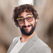 Young crazy man in glasses — Stock fotografie