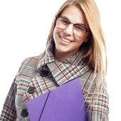 Young cool woman student — Stock Photo