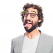Young crazy man — Stock Photo