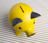 Yellow Piggy bank — Stock Photo