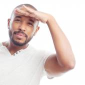 Young cool black man looking far away — Stock Photo