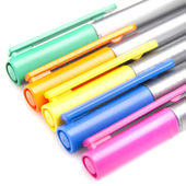 Closeup Colorful pens — Stock Photo
