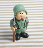 Closeup soldier toy — Stock Photo