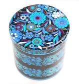 Floral tin — Stock Photo