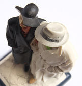 Old figurine couple — Stock Photo