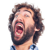 Young frightened man — Stock Photo