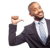 Young cool black man satisfied face — Stock Photo