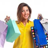 Young cool woman shopping — Stockfoto