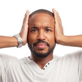 Young cool black man concentrated — Stock Photo