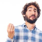 Young man incomprehension — Stock Photo