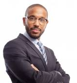 Young cool black man intelligence — Stock Photo