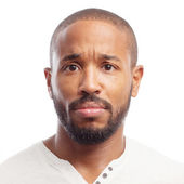Young cool black man no money sign — Stock Photo