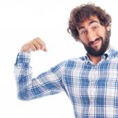 Young man with force and power — Stock Photo