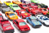 Colorful car toys — Stock Photo