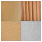 Cardboard texture group — Stock Photo