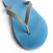 Close up blue slippers — Stock Photo